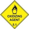 Oxidizing Agent 5.1 Diamond Labels - Pack of 10
