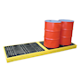 4 drum inline work floor spill containment pallet