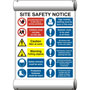Site Safety Notice Composite PVC Scaffold Banner - 7301