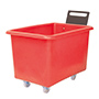 E392084 - red storage truck with handle, 300 litre capacity