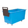 E392095 - light blue plastic storage truck with handle, 400 litre capacity