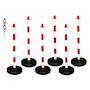 Barrier Kits -  6 Posts, 8mm Chain, Fillable base, Red/White
