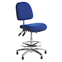 ESD fully ergonomic low lift operator chair with foot ring and feet
