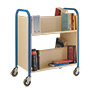 TT21 - double-sided, 2 tier book trolley