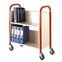 TT24 - single-sided, 2 tier book trolley