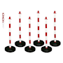 Barrier-Kit---6-posts,-6mm-chain,-fillable-circular-base,-red-&-white