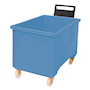 Blue plastic 270L container truck with handle