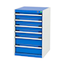 Bott Cubio - Freestanding lockable  6 Drawer Cabinets, 800 x 525 x 525