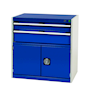 Bott Cubio - Freestanding Lockable 2 Drawer + Cupboard Cabinet - 800 x 800 x 525