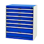 Bott Cubio - Freestanding Lockable 7 Drawer Cabinet - 900 x 800 x 525