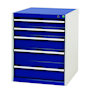 Bott Cubio - Freestanding Lockable 6 Drawer Cabinet - 800 x 650 x 650