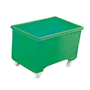 Green plastic 270L container truck