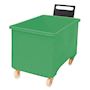 Green plastic 270L container truck with handle