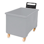 Grey plastic 270L container truck with handle