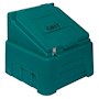 Heavy-Duty Forest Green Grit Bin - 200kg capacity
