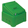 Heavy-Duty Lime Green Grit Bin - 200kg capacity