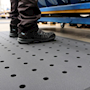 Hygienic Anti-fatigue Matting with Holes 600mm x 900mm