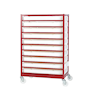 Mobile Tray Rack with 10 Trays - Painted