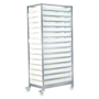 Stainless Steel Mobile Tray Rack with 15 Trays