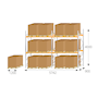 Pallet racking kit for UK pallets - 4000 x 5742 x 900mm