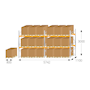Pallet racking kit for Euro pallets - 3000 x 5742 x 1100mm
