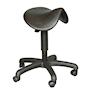 Saddle Stool, black polyurethane