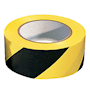 PVC Adhesive Hazard Warning Tape 1 x Roll - Black & Yellow