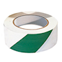 PVC Adhesive Hazard Warning Tape 1 x Roll - Green & White