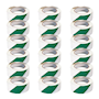 PVC Adhesive Hazard Warning Tape - Pack of 18 - Green & White