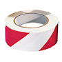 PVC Adhesive Hazard Warning Tape 1 x Roll - Red & White