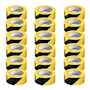 PVC Adhesive Hazard Warning Tape - Pack of 18 - Yellow & Black