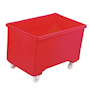 Red plastic 270L container truck