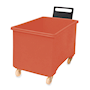 Red plastic 270L container truck with handle