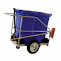 Street Cleaning Barrow with 2 x 120L Blue Wheelie Bins, Brush And Shovel