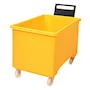 Yellow plastic 270L container truck with handle