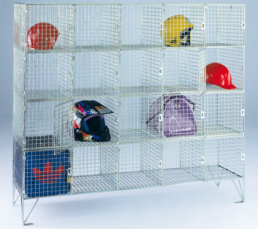 Wire Mesh Lockers Multi Compartment with Open Fronts - ESE Direct