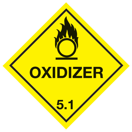 Oxidizing Agent 5 1 Diamond Label Signs Labels