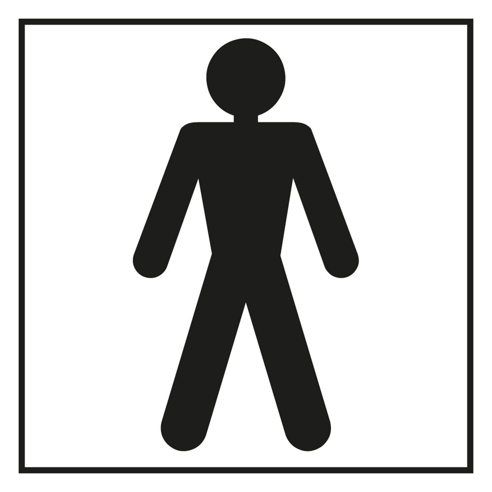 Bathroom Sign Male bathroom male sign