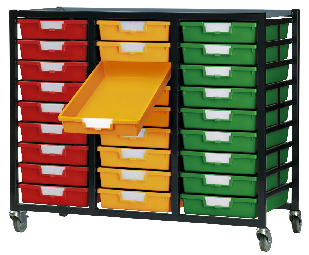 Metal Racks With Plastic Storage Trays Ese Direct