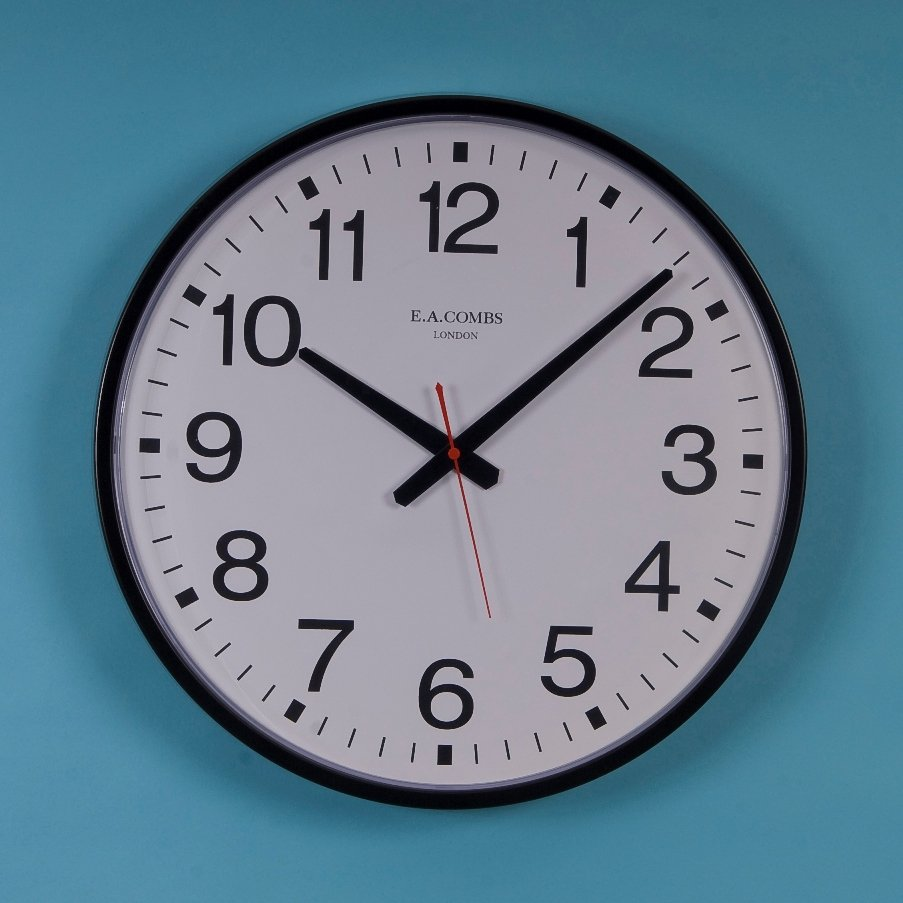 Metal Case Wall Clock 12 Hour Dial Ese Direct