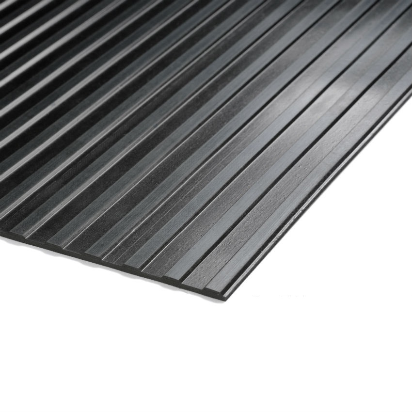 Cobarib Wide Ribbed Rubber Matting Per Metre Ese Direct