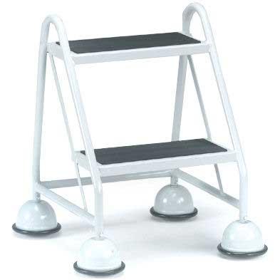 2 Tread No handles Glidealong Mobile Steps 508h Anti Slip Treads
