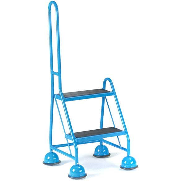 2 Tread 1 handle Glidealong Mobile Steps 508h Anti Slip Treads
