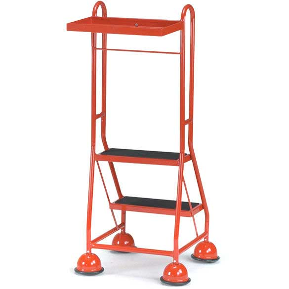 2 Tread 2 handle Tray Glidealong Mobile Steps 508h Anti Slip Treads