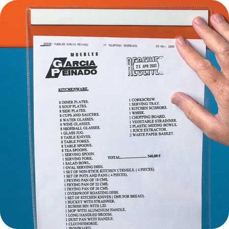Self Adhesive Document Storage Pockets 110mm h x 110mm w (pk 10)