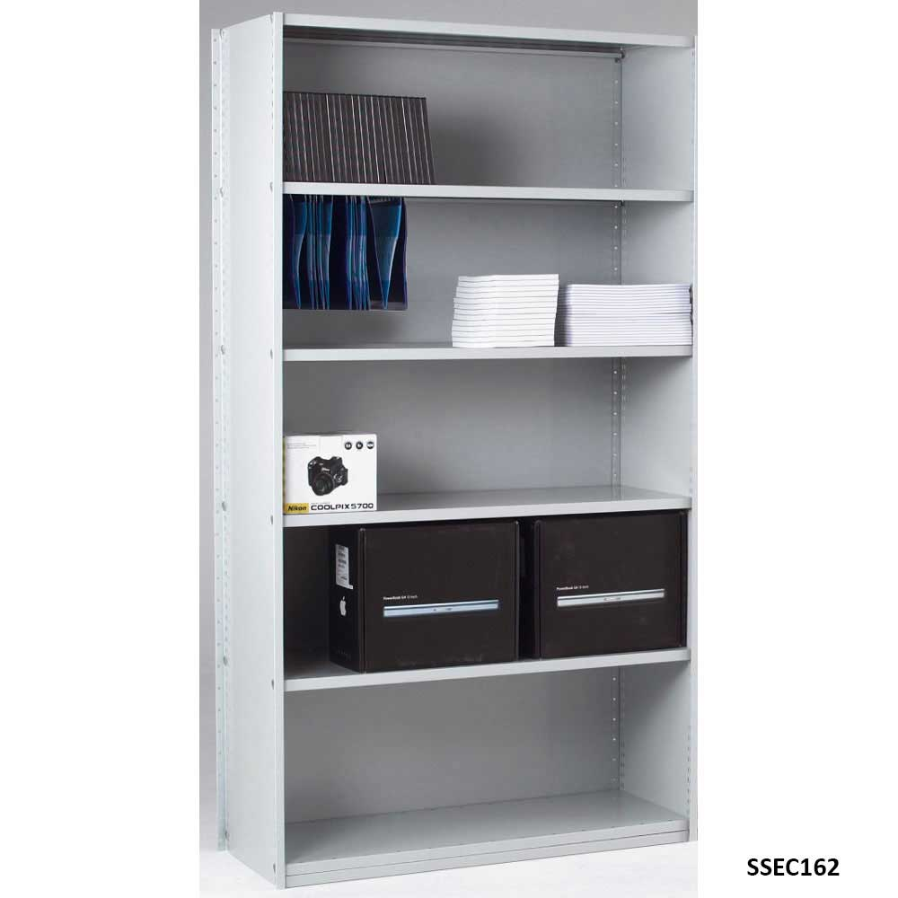 Closed Back Solo Shelving Extension Bay 1850 x 1000 x 450 6 Shelves