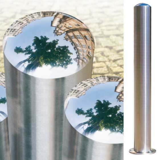 Removable Chichester Stainless Steel Bollards 108mm Dia