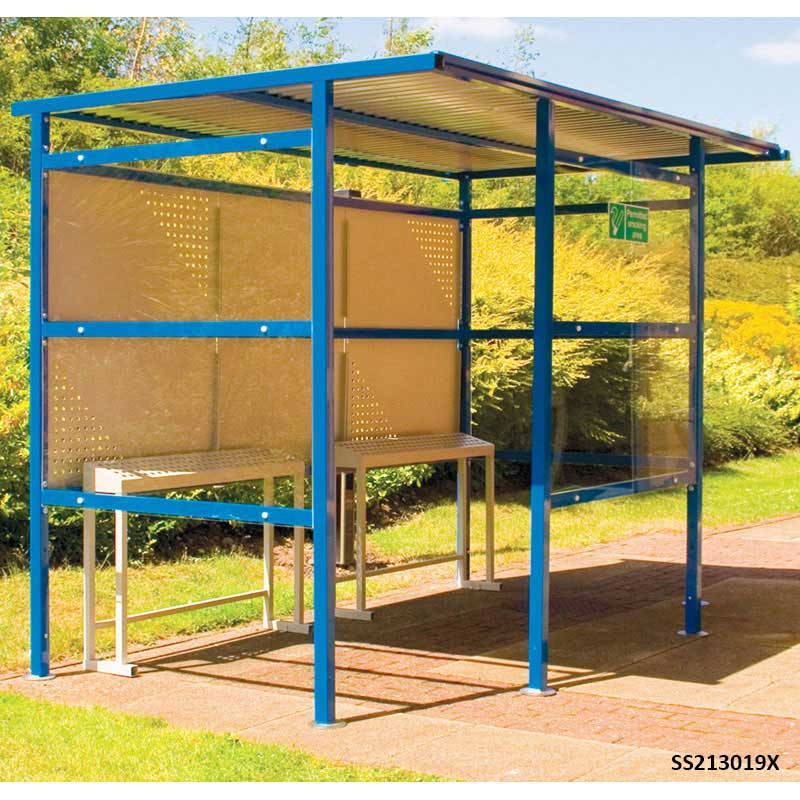 Traditional Smoking Shelter Perspex 3.06m w x 2.5m d