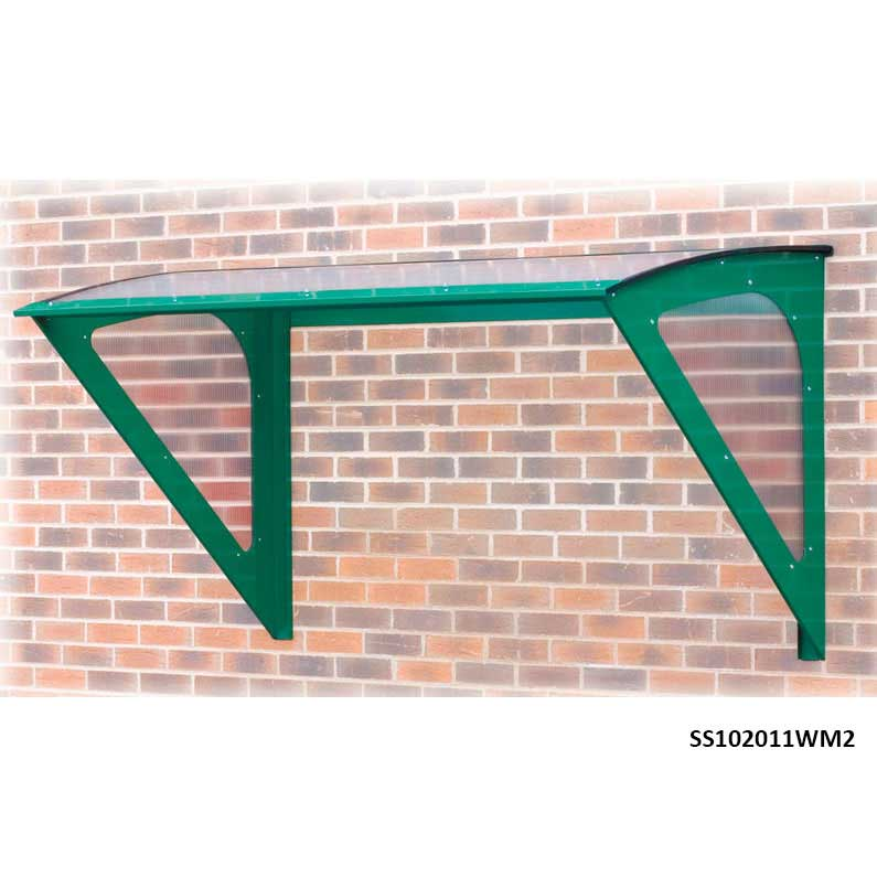 Lean To Smoking Shelter with 2 legs 3m wide x 1.9m deep