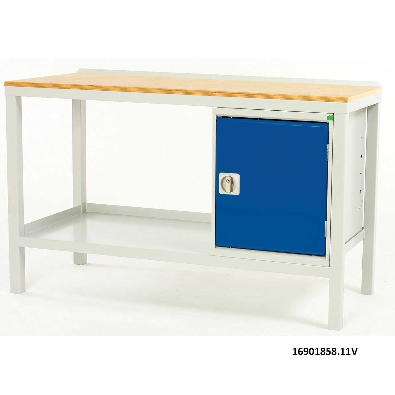 Static Welded Workbench with MPX top Cupboard 1000mm W x 600mm D